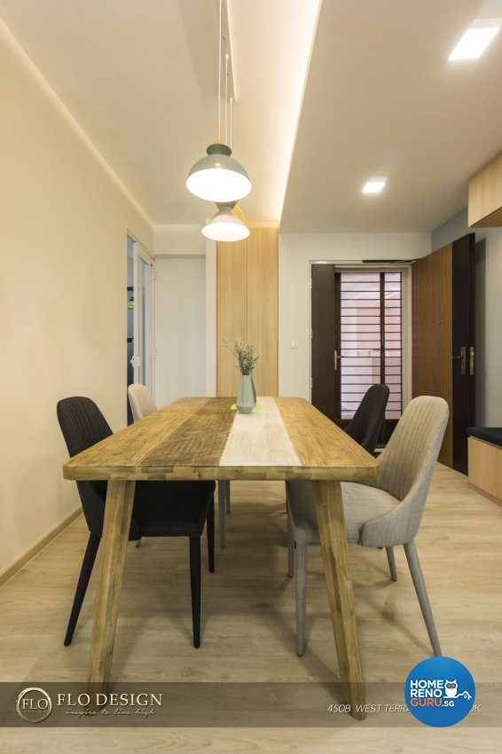Contemporary, Industrial, Scandinavian Design - Dining Room - HDB 4 Room - Design by Flo Design Pte Ltd