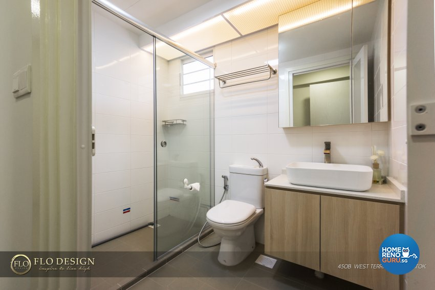 Contemporary, Industrial, Scandinavian Design - Bathroom - HDB 4 Room - Design by Flo Design Pte Ltd