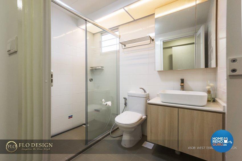 Contemporary, Industrial, Scandinavian Design - Bathroom - HDB 4 Room - Design by Flo Design Pte Ltd