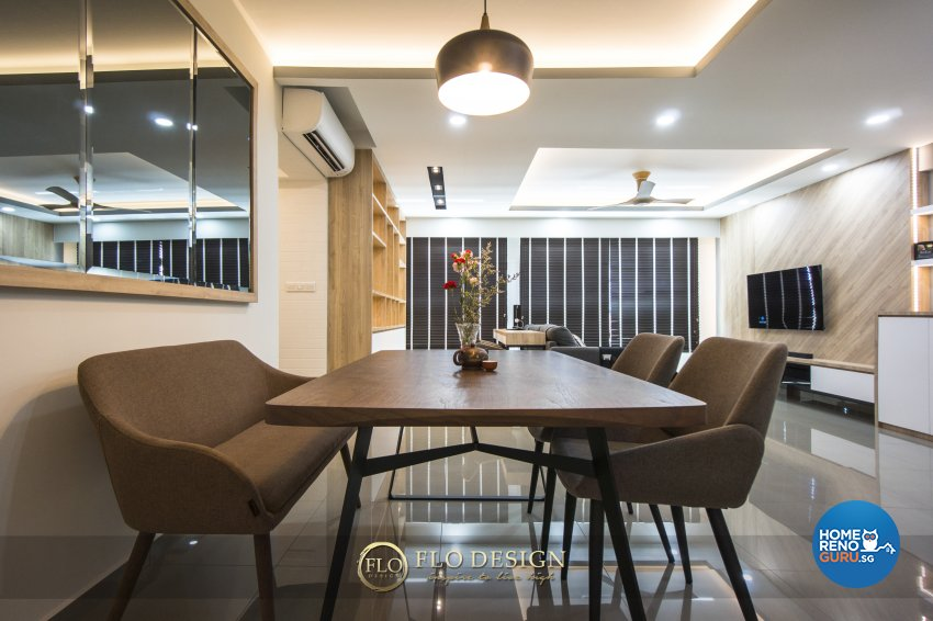 Contemporary, Scandinavian Design - Dining Room - HDB 5 Room - Design by Flo Design Pte Ltd