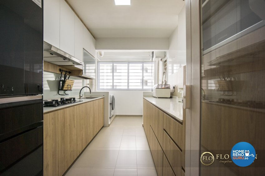 Contemporary, Scandinavian Design - Kitchen - HDB 5 Room - Design by Flo Design Pte Ltd