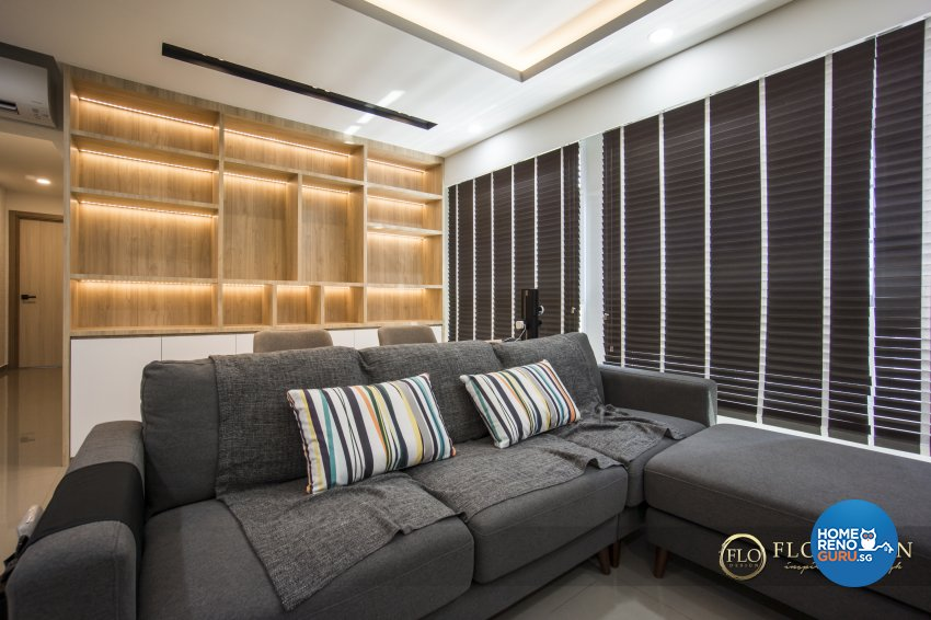 Contemporary, Scandinavian Design - Living Room - HDB 5 Room - Design by Flo Design Pte Ltd
