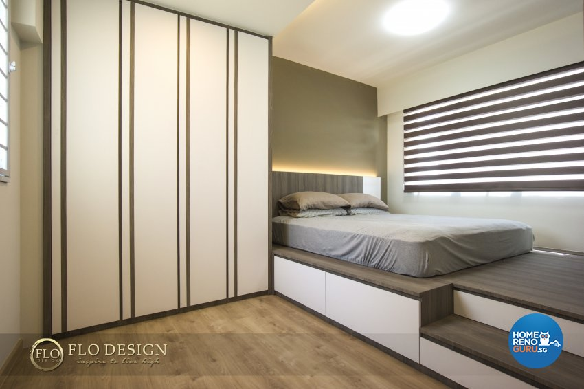 Contemporary, Scandinavian Design - Bedroom - HDB 5 Room - Design by Flo Design Pte Ltd