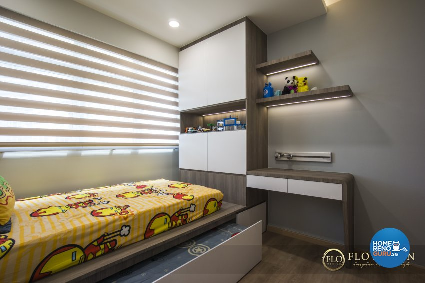 Contemporary, Scandinavian Design - Study Room - HDB 5 Room - Design by Flo Design Pte Ltd