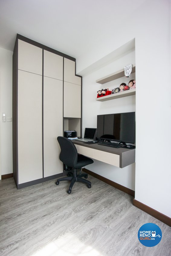 Contemporary, Scandinavian Design - Study Room - HDB 4 Room - Design by Flo Design Pte Ltd