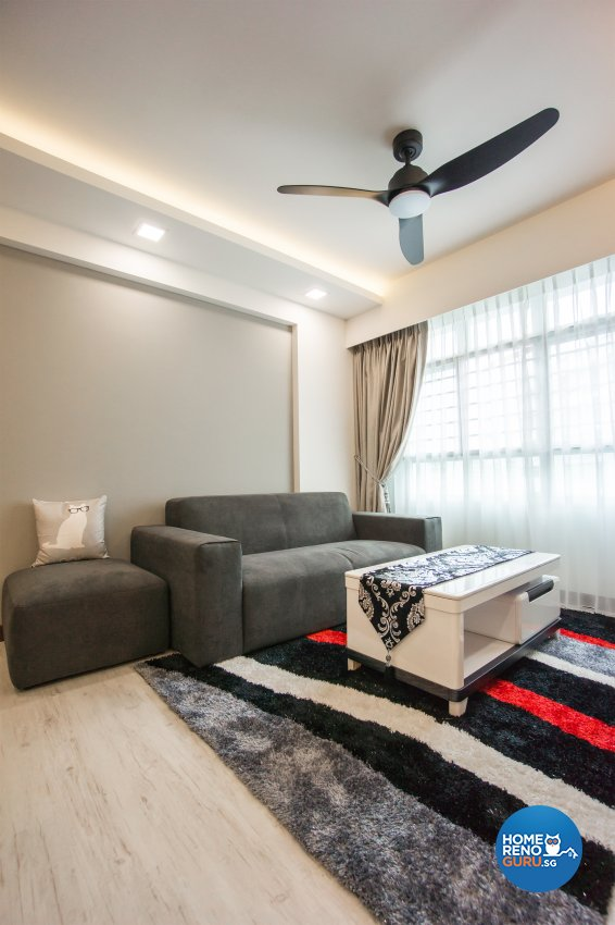 Contemporary, Scandinavian Design - Living Room - HDB 4 Room - Design by Flo Design Pte Ltd
