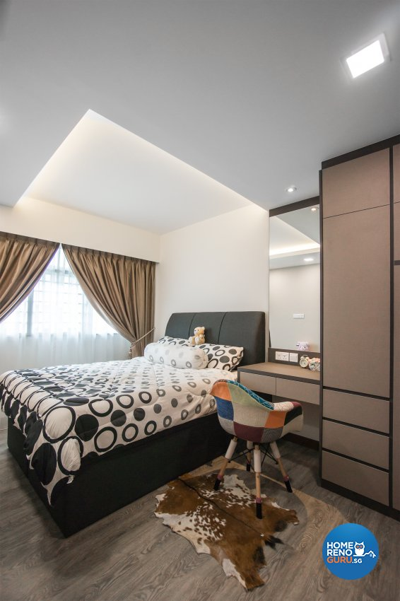 Contemporary, Scandinavian Design - Bedroom - HDB 4 Room - Design by Flo Design Pte Ltd