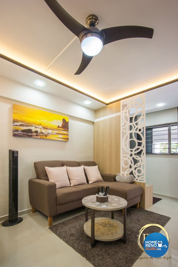 Contemporary, Scandinavian Design - Living Room - HDB 3 Room - Design by Flo Design Pte Ltd