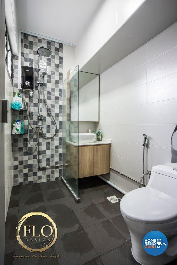Contemporary, Scandinavian Design - Bathroom - HDB 3 Room - Design by Flo Design Pte Ltd