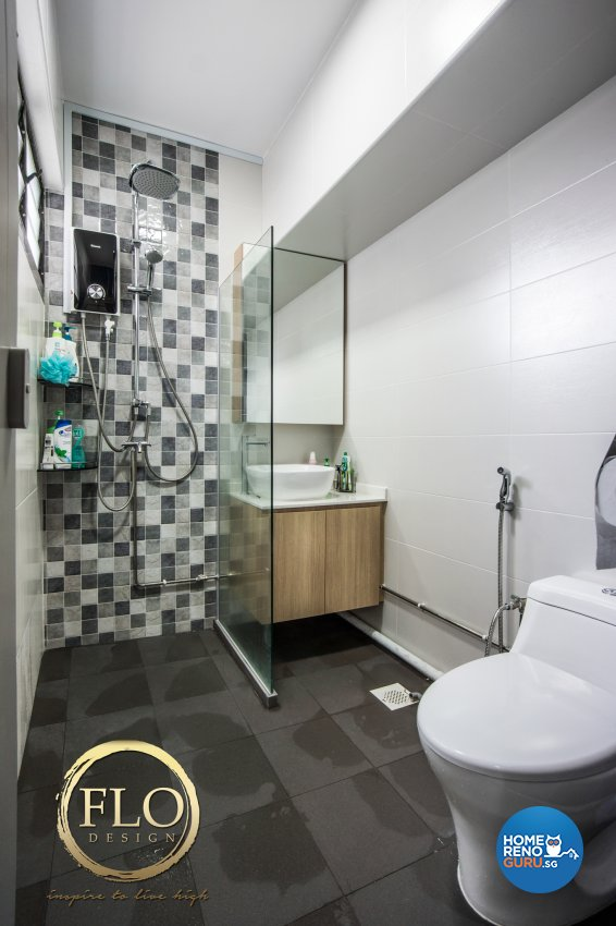 Contemporary, Scandinavian Design - Bathroom - HDB 3 Room - Design by Flo Design Pte Ltd