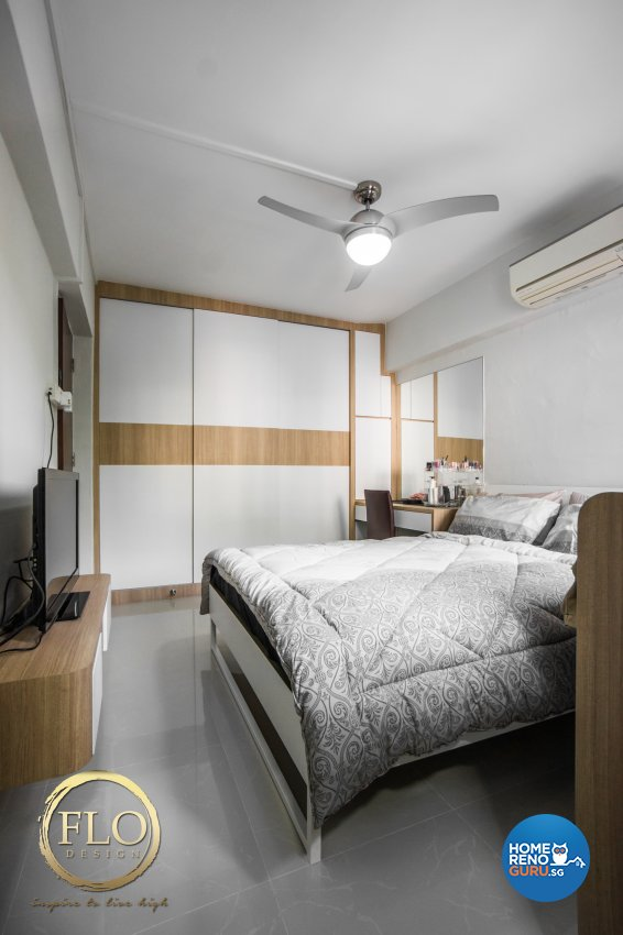 Contemporary, Scandinavian Design - Bedroom - HDB 3 Room - Design by Flo Design Pte Ltd