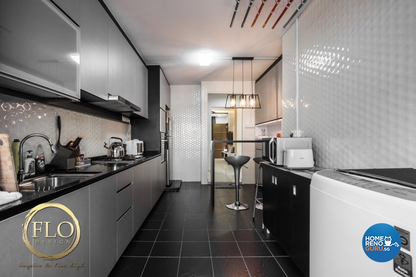 Contemporary, Scandinavian Design - Kitchen - HDB 3 Room - Design by Flo Design Pte Ltd