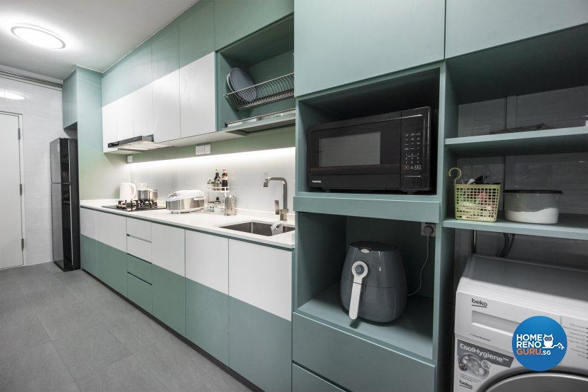 Contemporary, Minimalist, Modern Design - Kitchen - HDB 3 Room - Design by Flo Design Pte Ltd