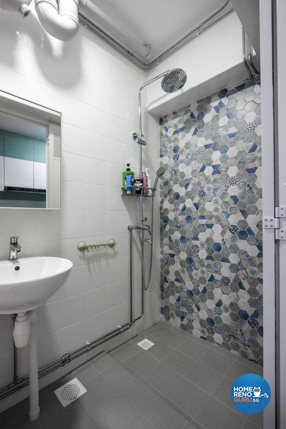 Contemporary, Minimalist, Modern Design - Bathroom - HDB 3 Room - Design by Flo Design Pte Ltd