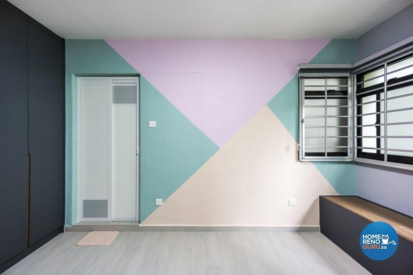 Contemporary, Minimalist, Modern Design - Bedroom - HDB 3 Room - Design by Flo Design Pte Ltd