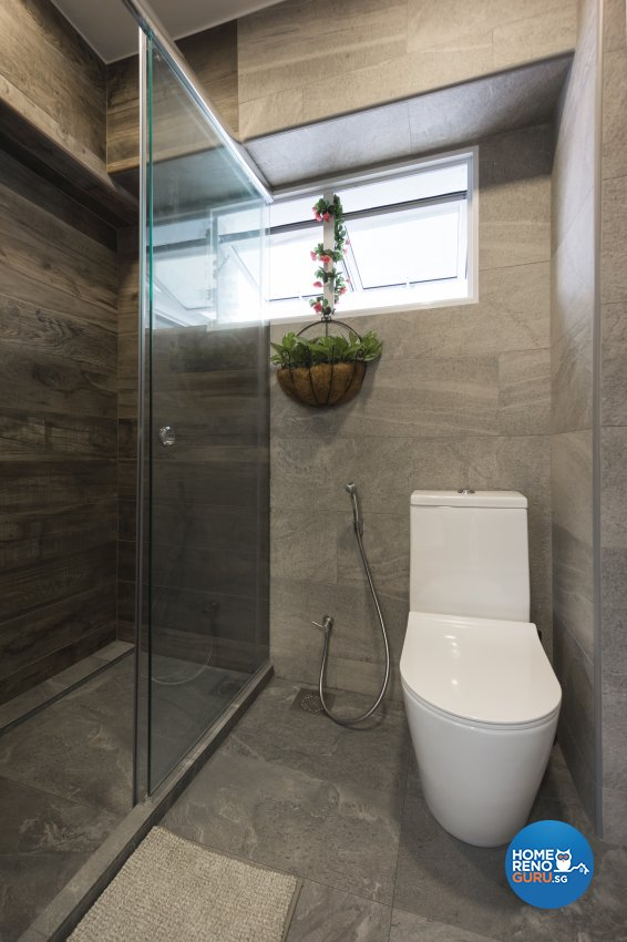 Country, Rustic Design - Bathroom - HDB 5 Room - Design by Flo Design Pte Ltd