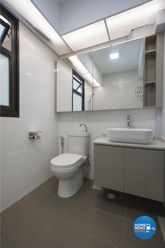 Contemporary, Modern Design - Bathroom - HDB 4 Room - Design by Flo Design Pte Ltd