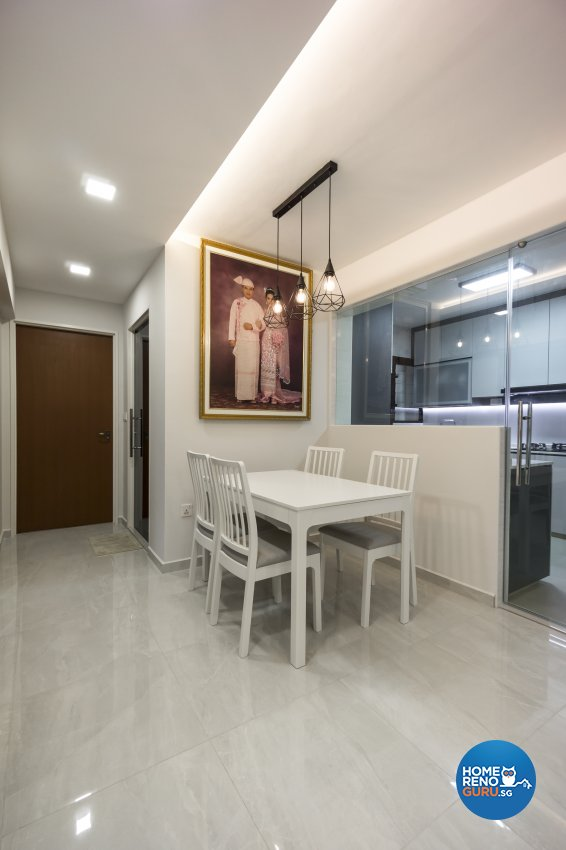 Contemporary, Modern Design - Dining Room - HDB 4 Room - Design by Flo Design Pte Ltd
