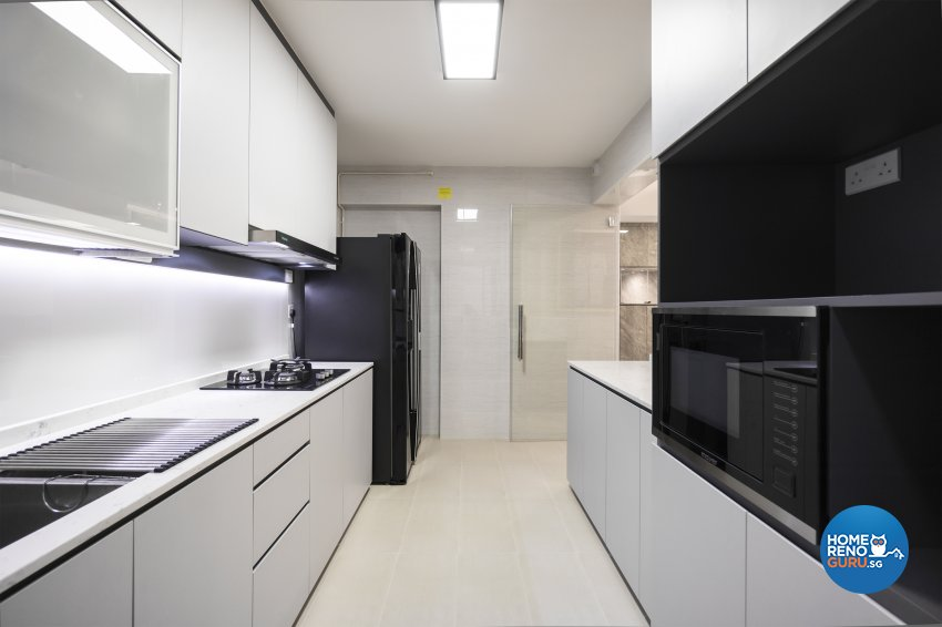 Contemporary, Modern Design - Kitchen - HDB 4 Room - Design by Flo Design Pte Ltd