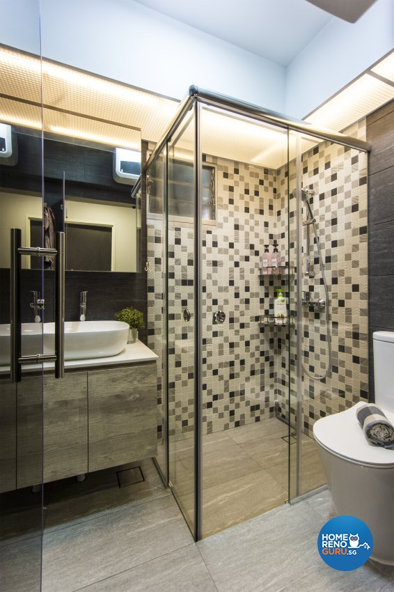 Contemporary, Modern, Scandinavian Design - Bathroom - HDB 4 Room - Design by Flo Design Pte Ltd