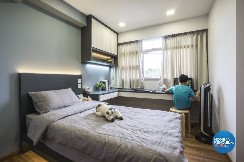 Contemporary, Modern, Scandinavian Design - Bedroom - HDB 4 Room - Design by Flo Design Pte Ltd