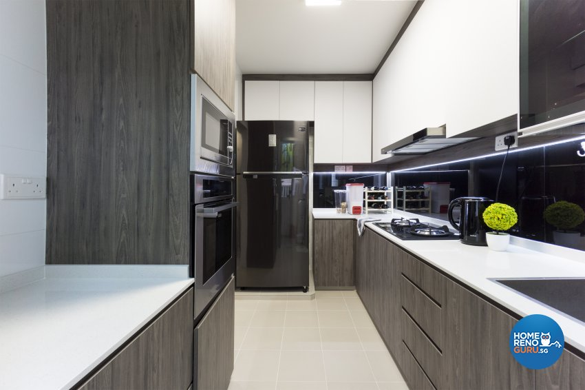 Contemporary, Modern, Scandinavian Design - Kitchen - HDB 4 Room - Design by Flo Design Pte Ltd