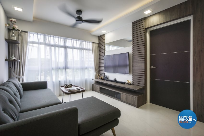 Contemporary, Modern, Scandinavian Design - Living Room - HDB 4 Room - Design by Flo Design Pte Ltd