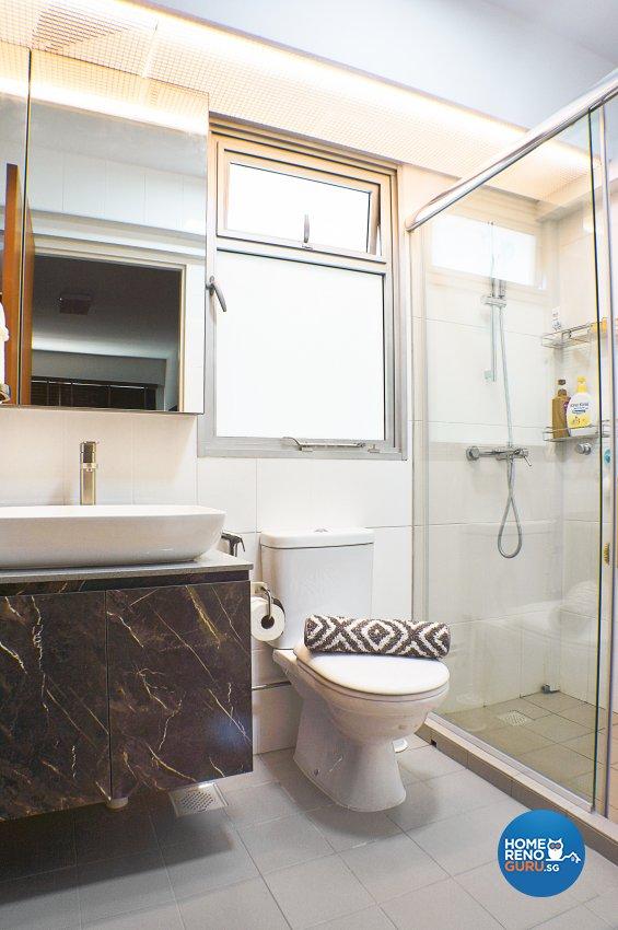 Classical, Contemporary Design - Bathroom - HDB 4 Room - Design by Flo Design Pte Ltd