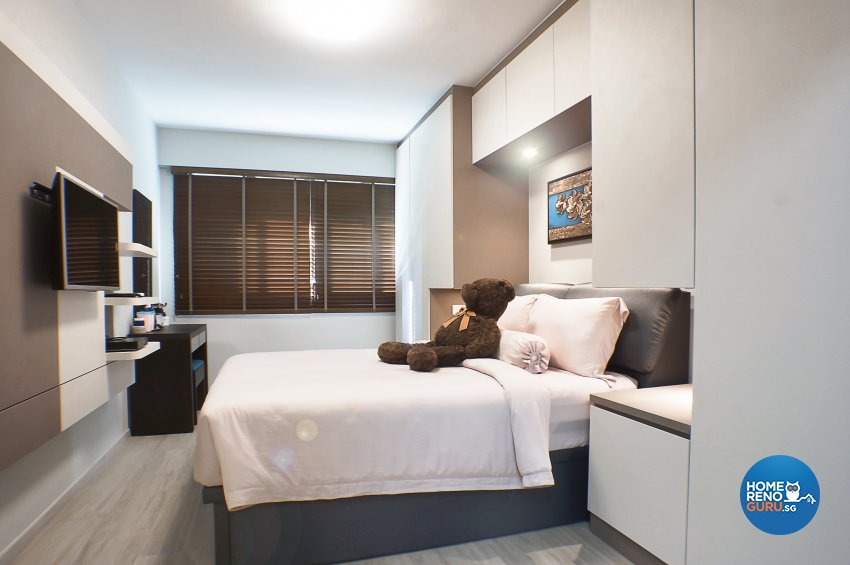 Classical, Contemporary Design - Bedroom - HDB 4 Room - Design by Flo Design Pte Ltd