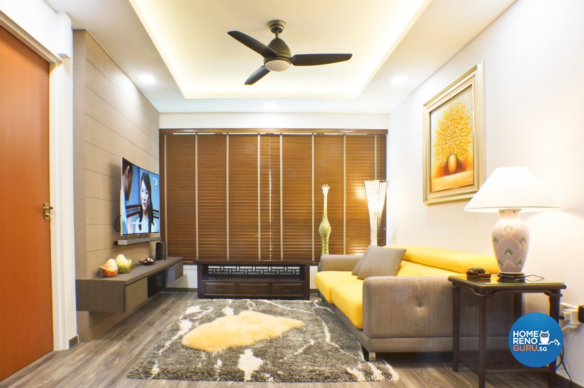 Classical, Contemporary Design - Living Room - HDB 4 Room - Design by Flo Design Pte Ltd