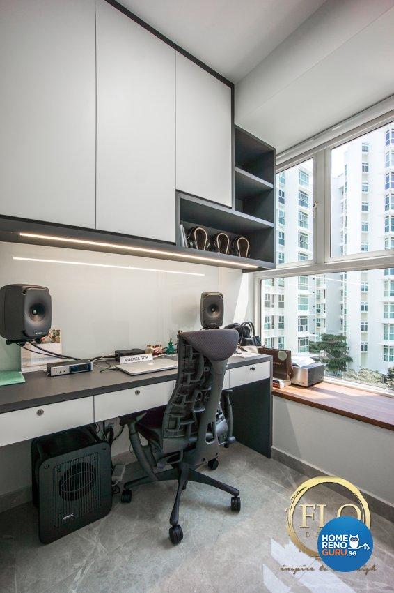 Contemporary, Minimalist Design - Study Room - Condominium - Design by Flo Design Pte Ltd