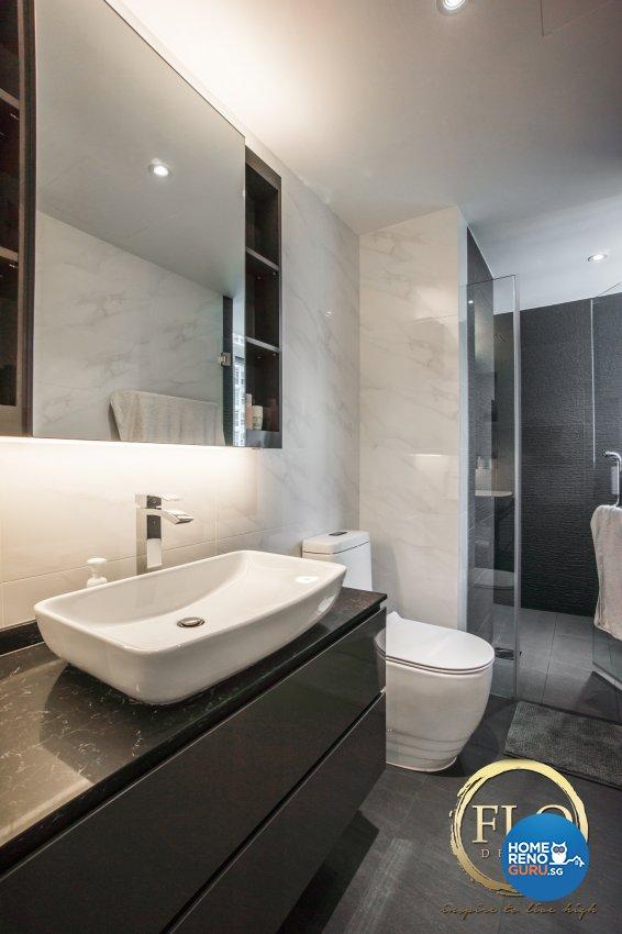Contemporary, Minimalist Design - Bathroom - Condominium - Design by Flo Design Pte Ltd
