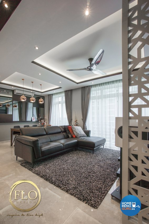 Contemporary, Minimalist Design - Living Room - Condominium - Design by Flo Design Pte Ltd