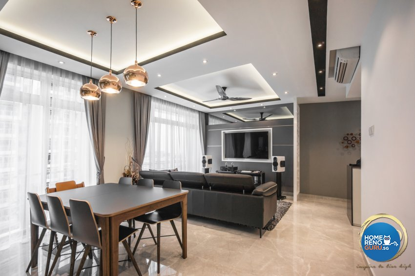 Contemporary, Minimalist Design - Living Room - Condominium - Design by Flo Design Pte Ltd
