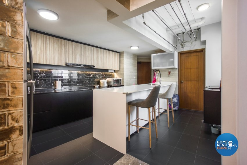 Contemporary Design - Kitchen - Condominium - Design by Flo Design Pte Ltd