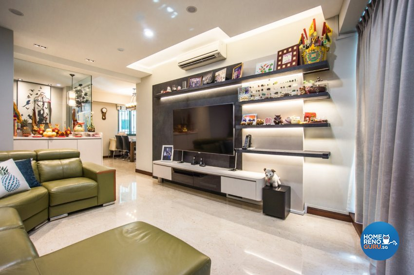 Contemporary Design - Living Room - Condominium - Design by Flo Design Pte Ltd