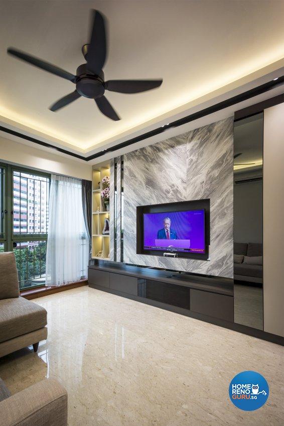 Contemporary, Modern Design - Living Room - Condominium - Design by Flo Design Pte Ltd