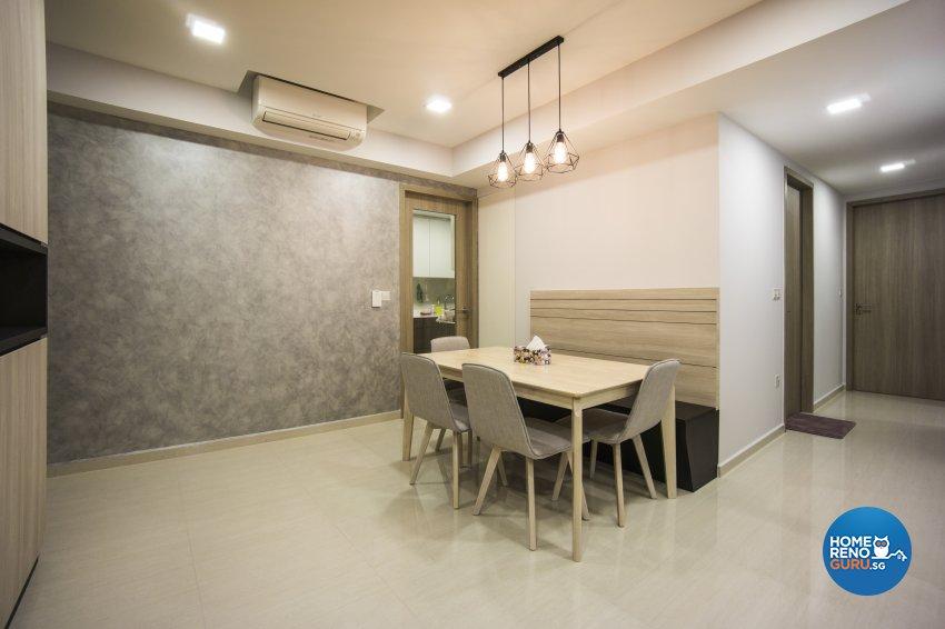 Contemporary, Modern, Scandinavian Design - Dining Room - Condominium - Design by Flo Design Pte Ltd