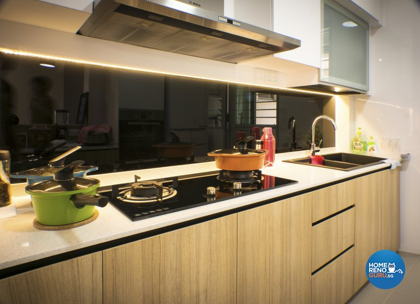 Scandinavian Design - Kitchen - HDB 4 Room - Design by Flo Design Pte Ltd