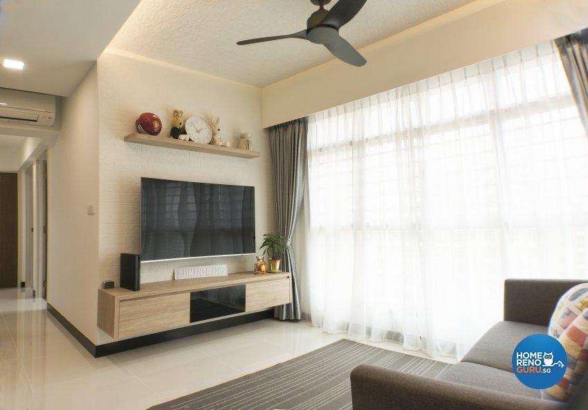 Scandinavian Design - Living Room - HDB 4 Room - Design by Flo Design Pte Ltd