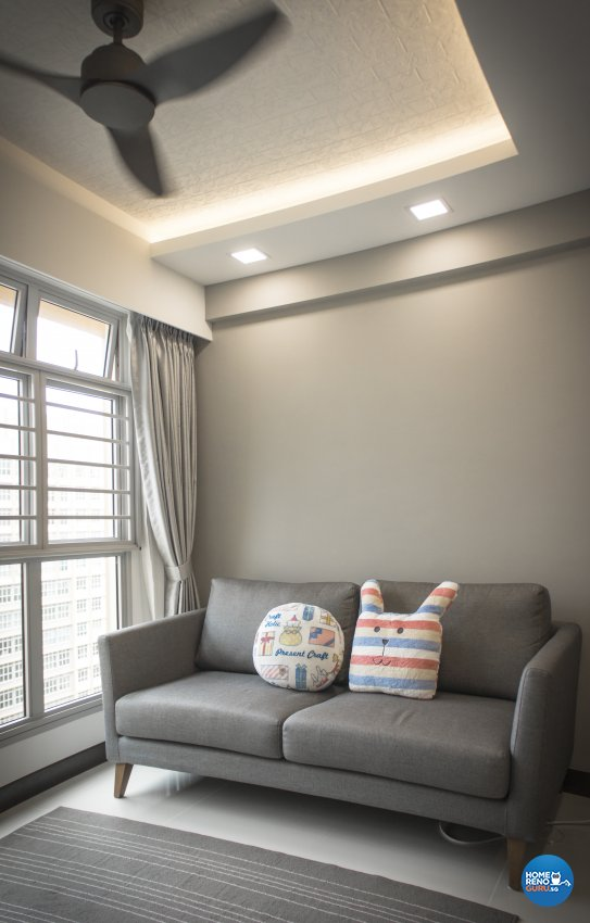 Scandinavian Design - Living Room - HDB 4 Room - Design by Flo Design Pte Ltd