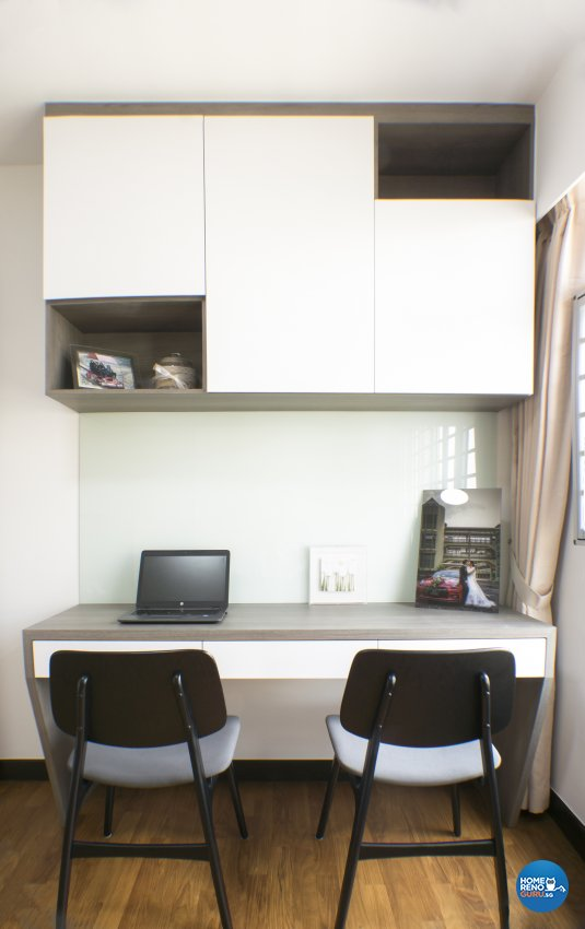 Scandinavian Design - Study Room - HDB 4 Room - Design by Flo Design Pte Ltd