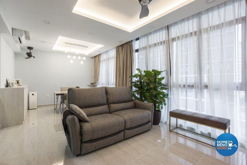 Contemporary, Minimalist, Modern Design - Living Room - Condominium - Design by Flo Design Pte Ltd