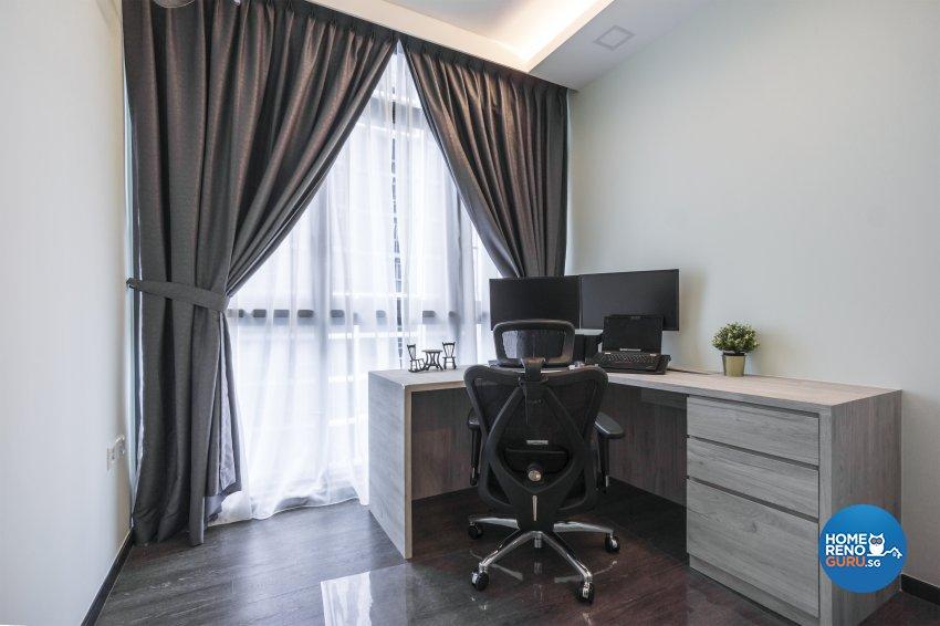 Contemporary, Minimalist, Modern Design - Study Room - Condominium - Design by Flo Design Pte Ltd