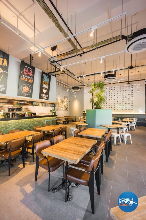 Industrial, Rustic, Scandinavian Design - Commercial - F&B - Design by Flo Design Pte Ltd