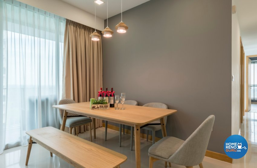 Contemporary, Modern, Scandinavian Design - Dining Room - Condominium - Design by Flo Design Pte Ltd
