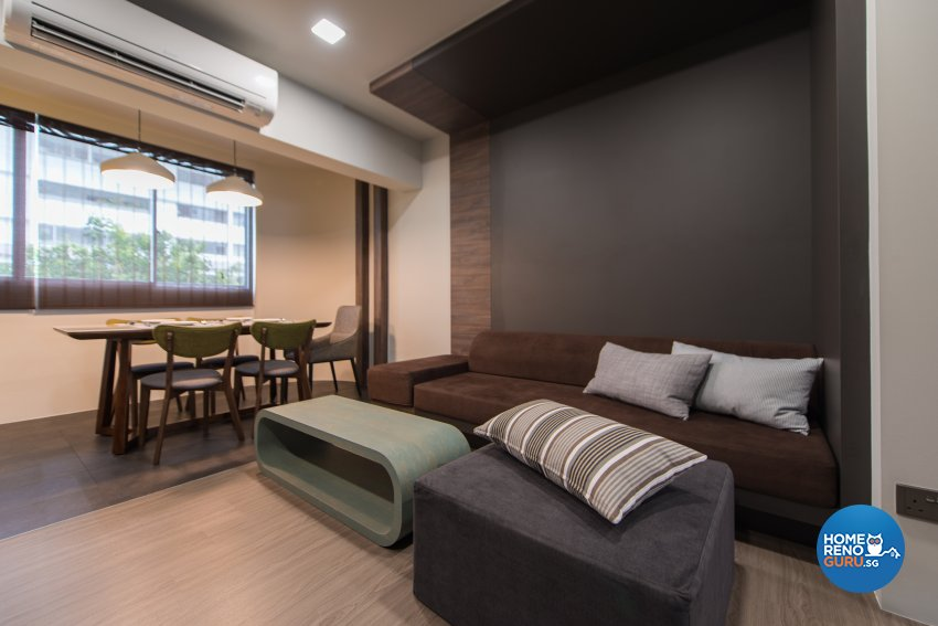 Minimalist Design - Living Room - HDB Executive Apartment - Design by Forefront Interior