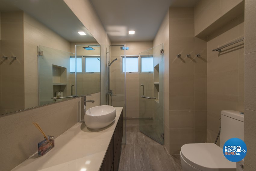 Minimalist Design - Bathroom - HDB Executive Apartment - Design by Forefront Interior