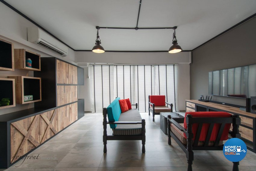 Industrial Design - Living Room - HDB Executive Apartment - Design by Forefront Interior