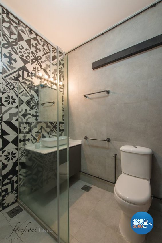 Industrial Design - Bathroom - HDB Executive Apartment - Design by Forefront Interior